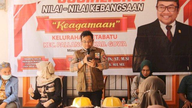 Wakil Ketua DPRD Sulsel Darmawangsyah Muin Menggelar Kegiatan sosialisasi Nilai-Nilai Kebangsaan