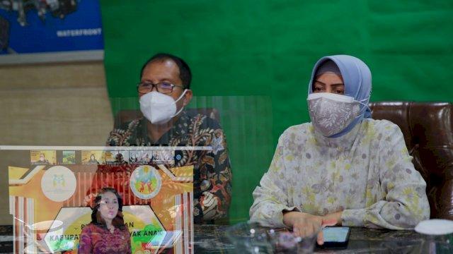 Pemerintah Kota Makassar meraih penghargaan kota layak anak 2021 oleh Kementrian Pemberdayaan Perempuan dan Perlindungan Anak (Kemen PPPA) RI.