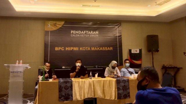 Konferensi Pers HIPMI Kota Makassar yang digelar di Novotel Makassar, Rabu (28/7).