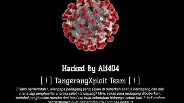 Situs resmi Pemkot Makassar saat diretas oleh seseorang yang diduga kuat adalah hacker. (Jumat (9/7) malam.