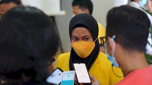 Ketua Golkar Luwu Utara Indah Putri Indriani yang Terpilih secara Aklamasi Pada Musda Golkar Lutra Minggu 5 September 2021