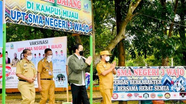 ASS Dampingi Presiden Jokowi Berkunjung ke Wajo
