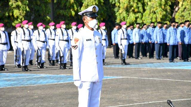 Komandan Lantamal VI Pimpin Upacara Hari Jadi Ke-76 TNI AL Tahun 2021 Di Mako Lantamal VI