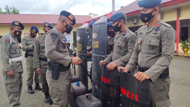 Cek Kesiapan Personelnya Dalam Pengamanan PON XX 2021, Ini Yang Dilakukan Danyon C Pelopor