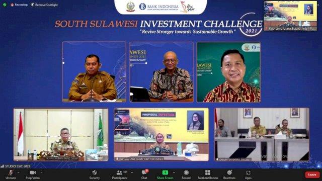 Secara Virtual Bupati Luwu Utara Indah Putri Indriani mempresentasikan Proposal investasi pembangunan Pabrik Minyak Goreng kabupaten Luwu Utara, Selasa 14/09/2021.