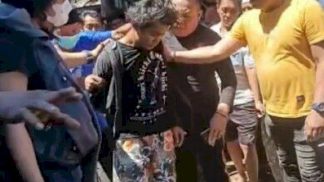 Penangkapan pelaku pembakaran masjid Raya Makassar.