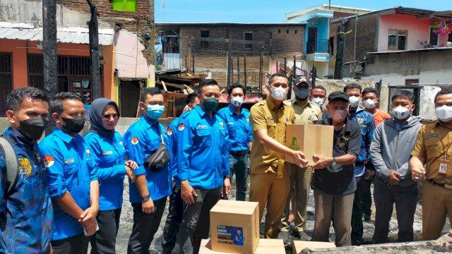 Aksi sosial Dispora bersama KNPI Makassar.