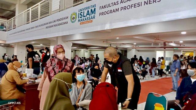 Yayasan Kalla-UIM Kembali Laksanakan Vaksin di Auditorium KH Muhyiddin Zain