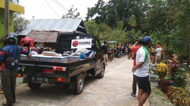 Gerak Cepat, Baguna Luwu Bawa Bantuan untuk Korban Banjir Bandang
