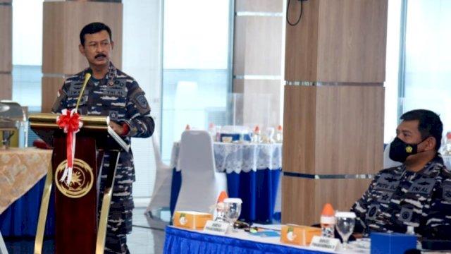 Danlantamal VI Makassar Hadiri AKS Jajaran Koarmada II Tahun 2021