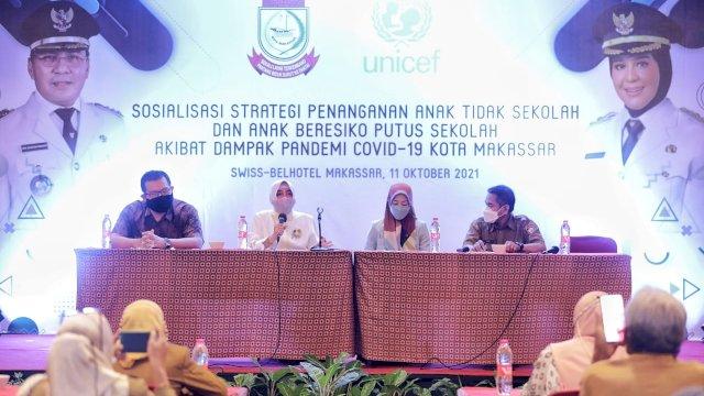 Pengajian Rutin TP PKK Kota Makassar, Indira Yusuf Ismail Ingatkan Pentingnya Disiplin Diri