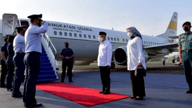 Wapres Lepas Landas ke Ambon, Percepatan Penanggulangan Kemiskinan Ekstrem