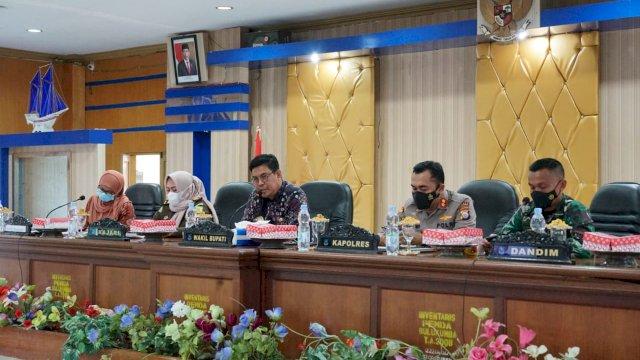 Evaluasi Penerapan PPKM Dan Serapan APBD 2021, Inspektorat Daerah Bulukumba Laksanakan Rapat Monitoring