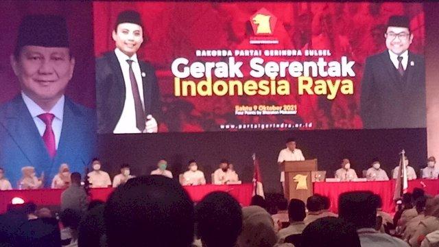 Sambutan Sekjen Gerindra Ahmad Muzani.