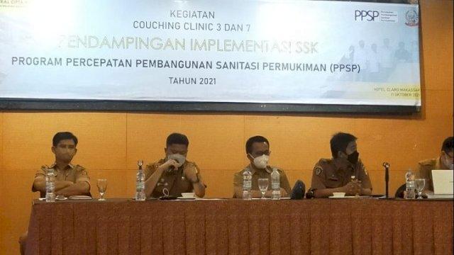 Kepala Bappeda Sinjai Irwan Suaib saat menghadiri Rakor di Hotel Claro Makassar, Senin (11/10).