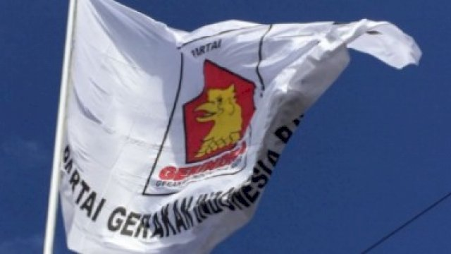 Bendera Partai Gerindra. (int)